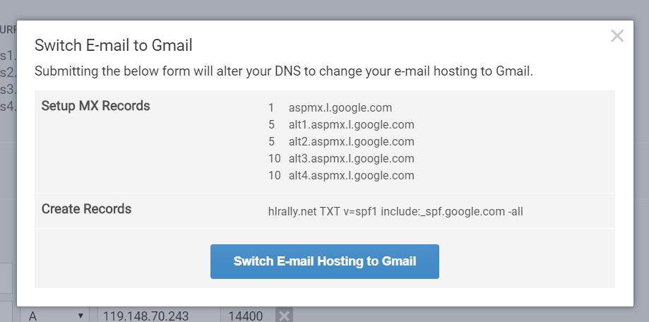 Synergy 8 - Setting Up Gmail Hosting