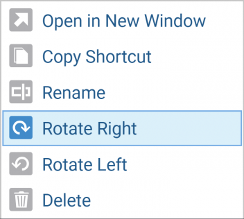 Rotate Images in Media